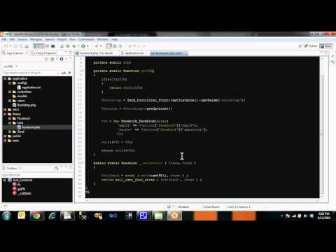 Facebook SDK in Zend Framework (Screencast)